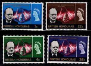 British Honduras Scott 191-194 MH* Churchill set