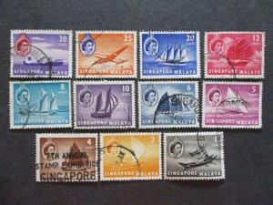 Singapore #28-38 Used - (1C9) WDWPhilatelic 2