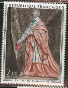 FRANCE Scott 1394 used 1974 stamp without tab