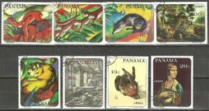 PANAMA 1967 Year Set ARTWORK PAINTINGS on Stamps WYSIWYG Lot