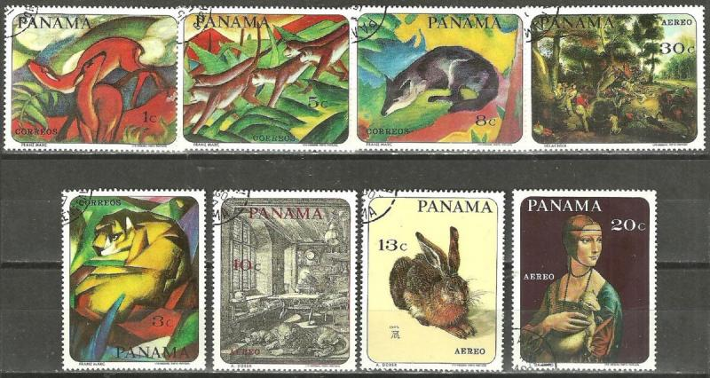 PANAMA 1967 Year Set ARTWORK PAINTINGS on Stamps WYSIWYG Lot (TA2161622)