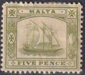 Malta #45  Unused CV $5.25  (Z1648)