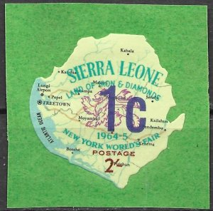 Sierra Leone 1965 Surcharged issue (Scott 262) Unlisted But Mentioned Scott MNH