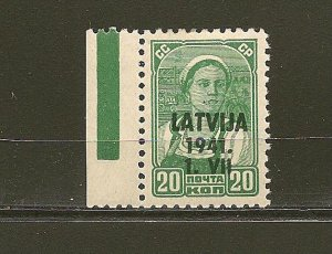 Latvia Overprinted 1941 on Stamp of Russia (2) Mint Hinged