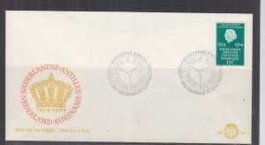 NETHERLANDS, 1964 Statute of the Kingdom 15c. on First Day cover.
