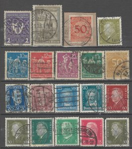 COLLECTION LOT # 4302 GERMANY 19 STAMPS 1922+ CV+$27