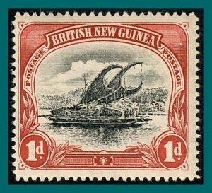 Papua 1901 Lakatoi, vert wmk, 1d mint  #2,SG10