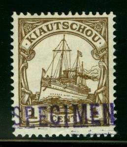 German Colonies- KIAUCHAU (CHINA)1905 Kaiser's YACHT 1c brown w/ SPECIMEN