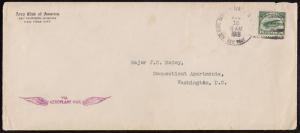 #C2 ON 1ST FLT CVR JULY 15,1918 W/ LETTER FROM THE AERO CLUB OF AMERICA HV5581