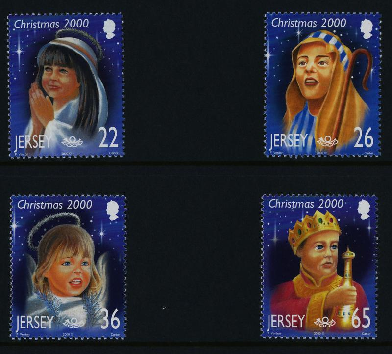Jersey 970-3 in Presentation Pack MNH Christmas, International Peace Year