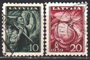 Latvia. 1939. 279-80. Agriculture, apples. USED.