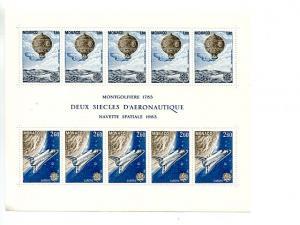Monaco 1983 Europa mini sheet   Mint VF NH