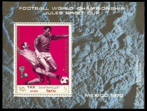 Yemen 277B, MNH, World Cup Football Mexico souvenir sheet