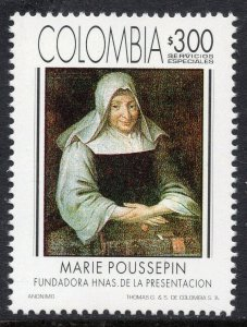 1003 - Colombia 1994 - The 250th Ann. of the Death of Marie Poussepin - MNH Set