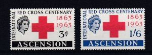 ASCENSION  1963  RED CROSS  CENTENARY   SET  MNH