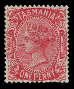 AUSTRALIA - Tasmania QV SG156a, 1d rose carmine, M MINT. PERF 14