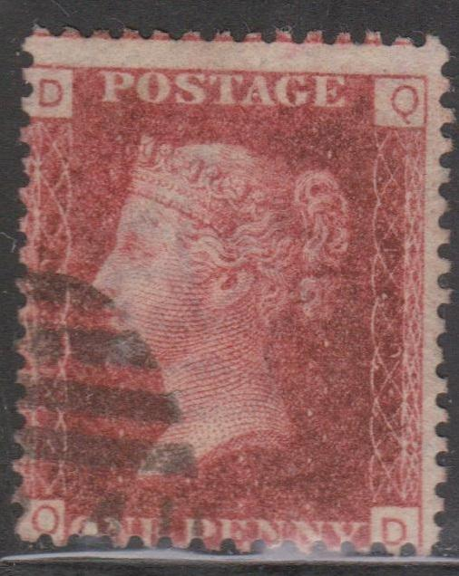 GREAT BRITAIN Scott # 33 Plate 129 Letters D & Q - Used