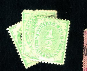 AUSTRALIA #J1 J3 J6 USED FINE J1 MINT NH Cat $40