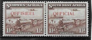 1938  SOUTH WEST AFRICA  - SG.  025  -  MAIL TRANSPORT OFFICIAL OVERPRINT -  MM