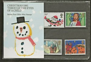 1981 CHRISTMAS -THROUGH THE EYES OF A CHILD PRESENTATION PACK 130