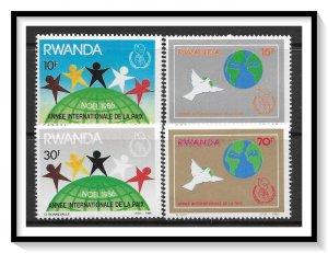 Rwanda #1270-1273 Christmas Set MNH