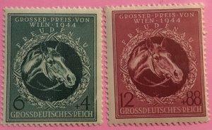 Germany B284-5 MNH horses