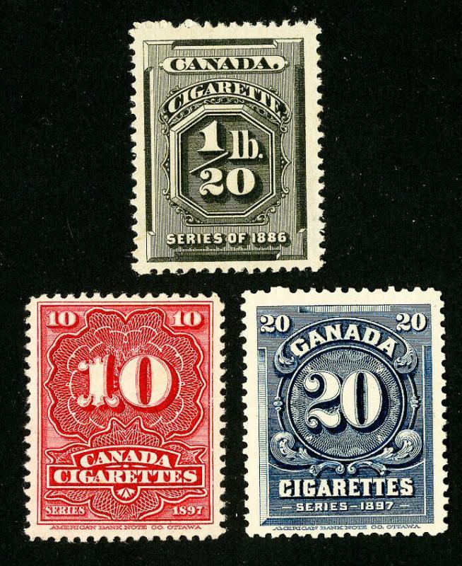 Canada Stamps # 3 Unused 1897 Cigarette Revenues