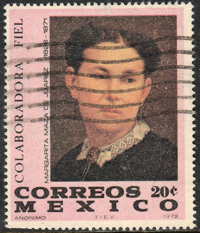 MEXICO 1043 Benito Juarez Death Centennial(his wife)Used (139)