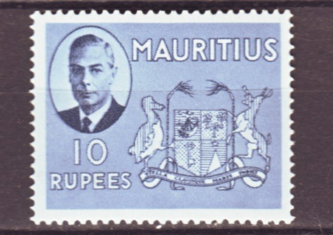 J22164 Jlstamps 1950 mauritius hv of set mh #249 king