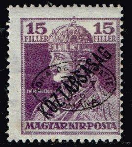 HUNGARY STAMP Debrecen 1919 Overprinted  Köztársaság  15F  MH/OG