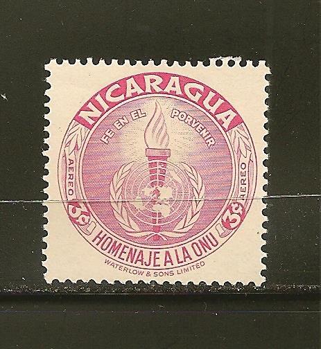 Nicaragua C339 UN Emblem Airmail Mint Hinged