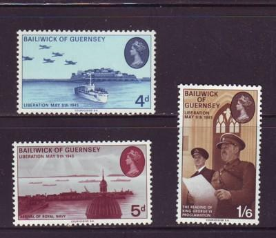 Guernsey Sc 30-2 1970 Liberation stamps NH