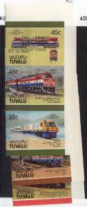 Tuvalu-Vaitupu - 1987 Trains - 3 Imperf. Se-Tenant Pairs