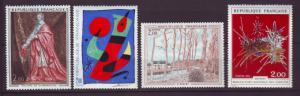 J20174  jlstamps 1974 france set mnh #1394-7 art