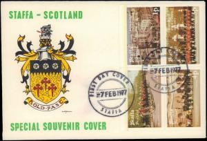 1977 GREAT BRITAIN SCOTLAND STAFFA LOCALS FIRST DAY