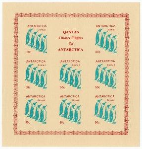 (I.B) Australia Cinderella : Qantas Antarctica Mail 50c (penguin)