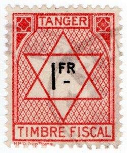 (I.B) France Colonial Revenue : Tangier Duty 1Fr