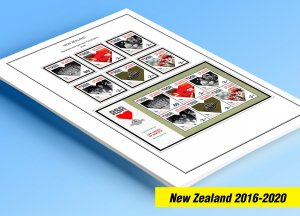 COLOR PRINTED NEW ZEALAND 2016-2020 STAMP ALBUM PAGES (103 illustrated pages)