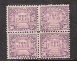 USA #701 NH Mint Block