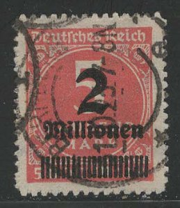Germany Reich Scott # 278, used, exp h/s