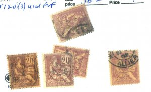 France #118(2) #120(3) Used F-VF Cat$36.50