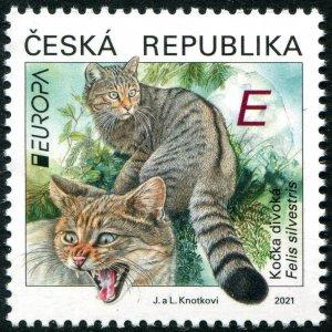 2021 Czech Republic Wild Cat - Europa Issue (Scott NA) MNH