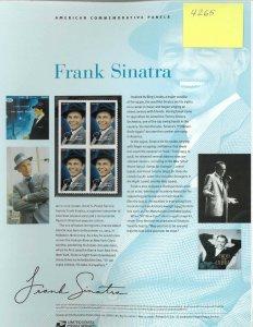 USPS COMMEMORATIVE PANEL #813 FRANK SINATRA #4265