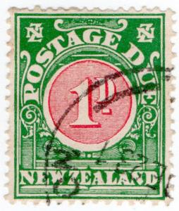 (I.B) New Zealand Postal : Postage Due 1d (1919)