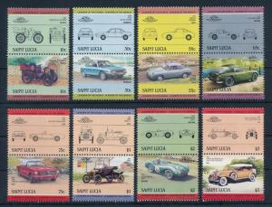 [71260] St. Lucia 1984 Automobiles Vintage Cars 8 Pairs MNH