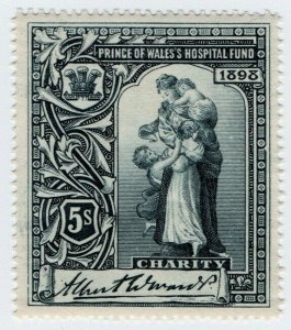 (I.B) Cinderella Collection : Prince of Wales Hospital Fund 5/- (1898)