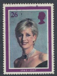 Great Britain SG 2021 Used    - Diana Princess of Wales