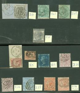 EDW1949SELL : Gibraltar Scarce collection of 12 GB Used in Gibraltar. Cat £690
