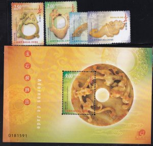 Macao 2000, Jade Ornements   MNH Sheets + set # 1039-1043