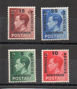 Great Britain - Offices in Morocco 78-81 MNH